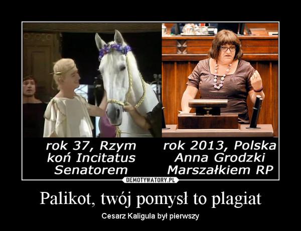 Palikot, twój pomysł to plagiat – Cesarz Kaligula był pierwszy