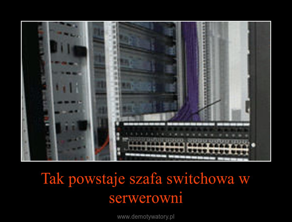 Tak powstaje szafa switchowa w serwerowni –