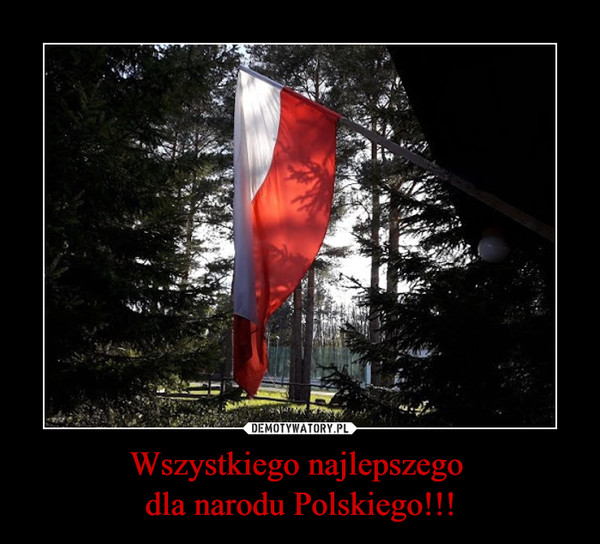 Wszystkiego najlepszego dla narodu Polskiego!!! –