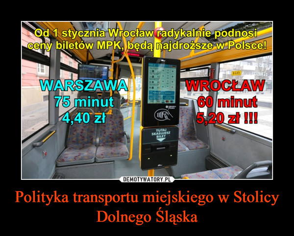 Polityka transportu miejskiego w Stolicy Dolnego Śląska –