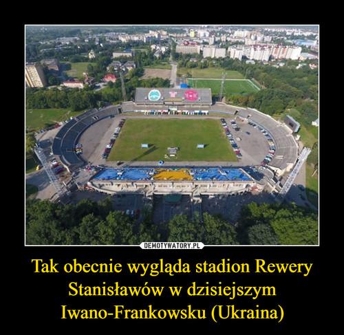 Tak obecnie wygląda stadion Rewery Stanisławów w dzisiejszym Iwano-Frankowsku (Ukraina)