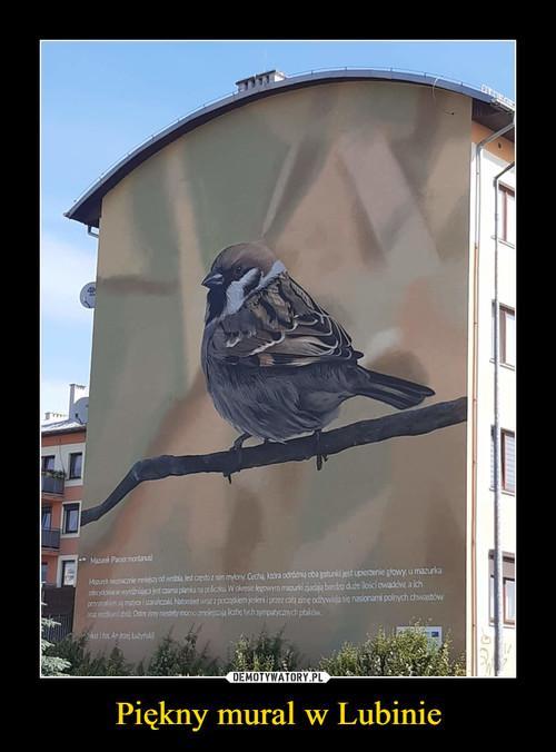Piękny mural w Lubinie