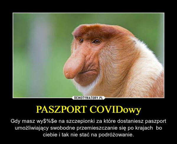 PASZPORT COVIDowy – Gdy masz wy$%$e na szczepionki za które dostaniesz paszport umożliwiający swobodne przemieszczanie się po krajach  bo ciebie i tak nie stać na podróżowanie.