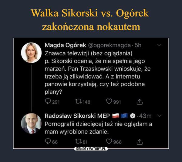 Walka Sikorski vs. Ogórek  zakończona nokautem