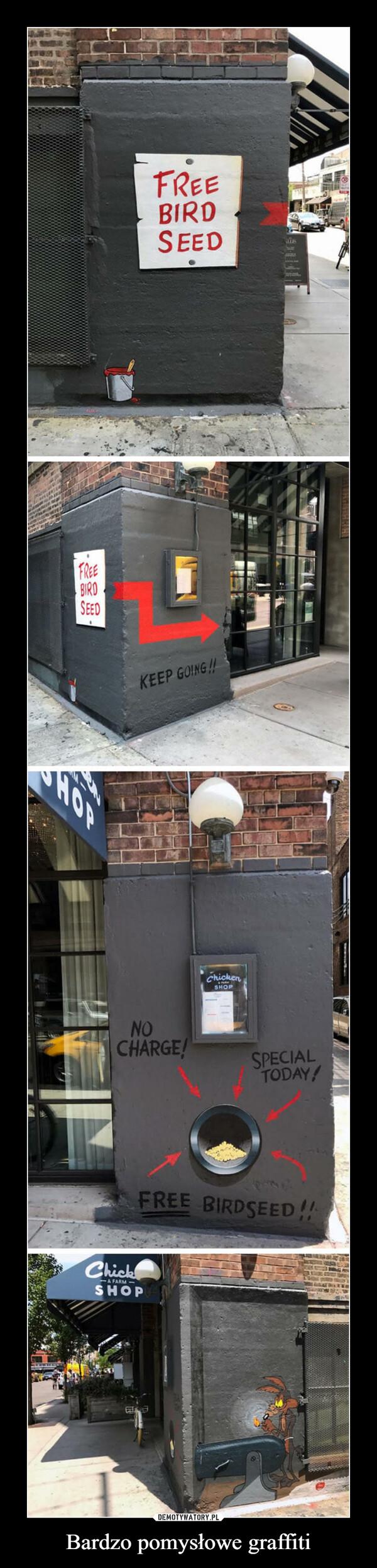 Bardzo pomysłowe graffiti –