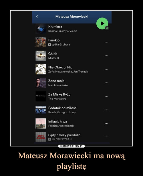 Mateusz Morawiecki ma nową playlistę